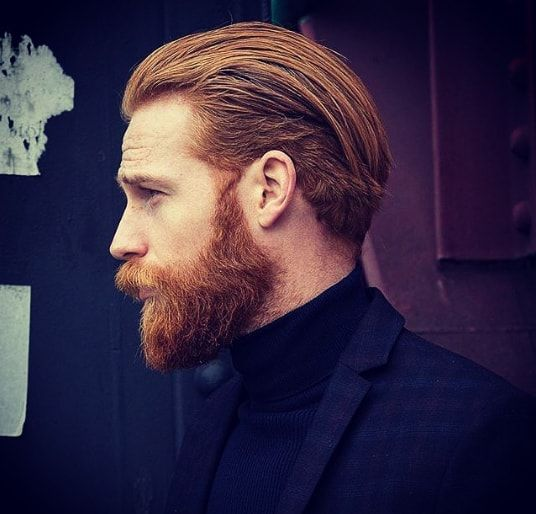 Medium Length Pushed Back Hair Men Hairstyle Hair In 2019 Mens