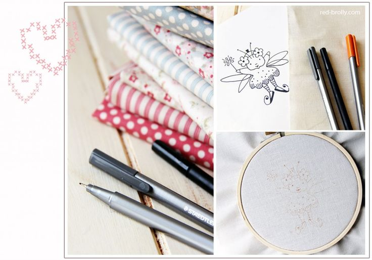How to transfer your embroidery design onto fabric