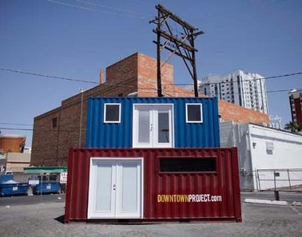 131 best images about green live work shipping container community ideas on pinterest - Container homes las vegas ...