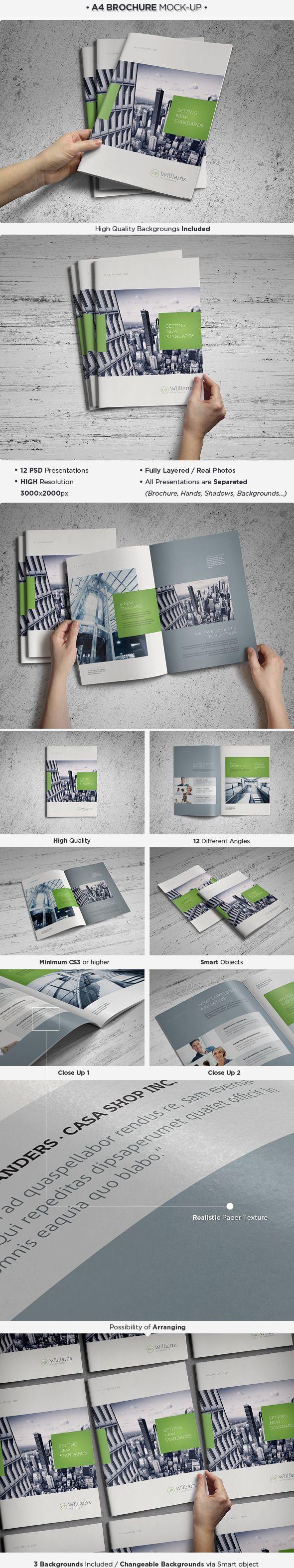 A4 Brochure / Catalog Mockup by Pune , via Behance
