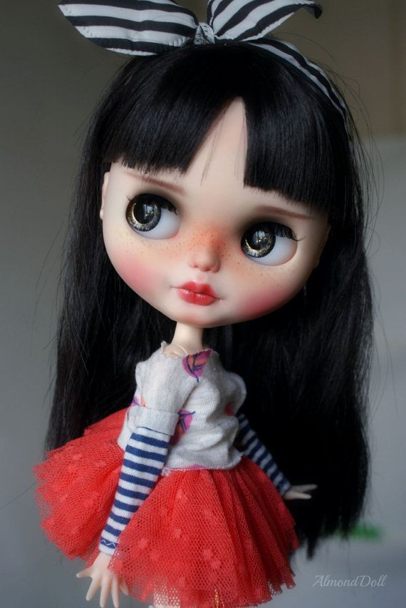 Erica zakázku OOAK blythe doll jedinečné umělecké panenky podle AlmondDoll