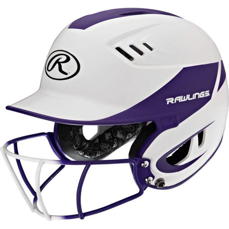Rawlings Junior Velo R16 Fastpitch Helmet w/ Mask, Purple