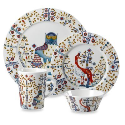 Iittala Taika Dinnerware Collection in White - BedBathandBeyond.com