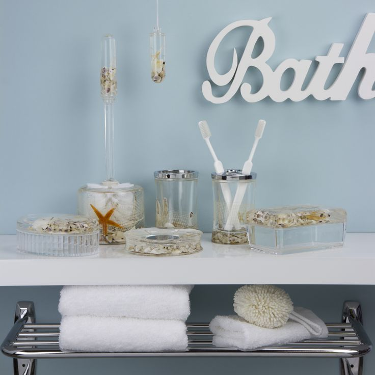 Sea Shell Bathroom Accessories #coastal #nautical #bathroom #decor Part 55