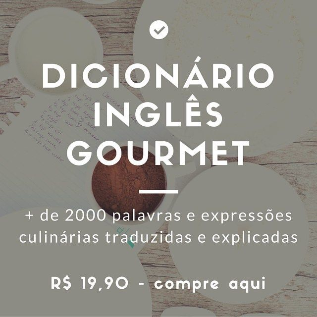 dicionário de termos culinários