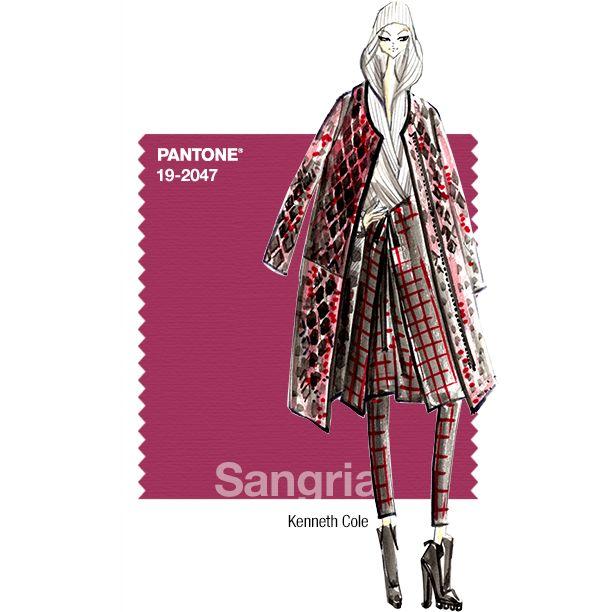 pantone fashion color report fall 2014 sangria kenneth cole