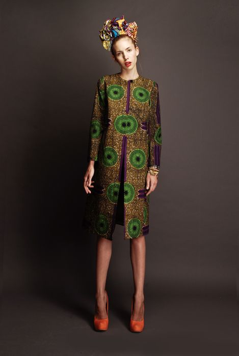 African Ashanti cloth - Madelaine Jacket with 60's vibe www.stellajean.it