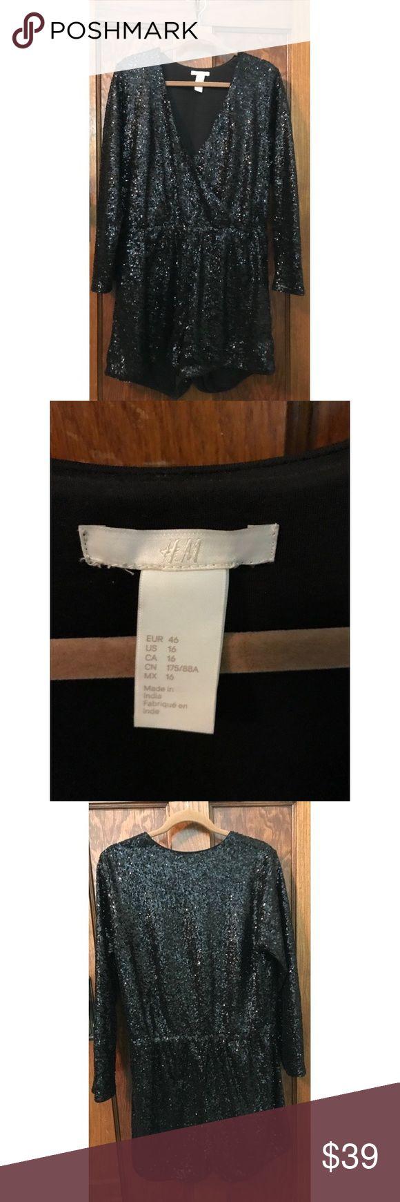 H&M Sequin Playsuit Black Party Sequined Playsuit! H&M Dresses Mini
