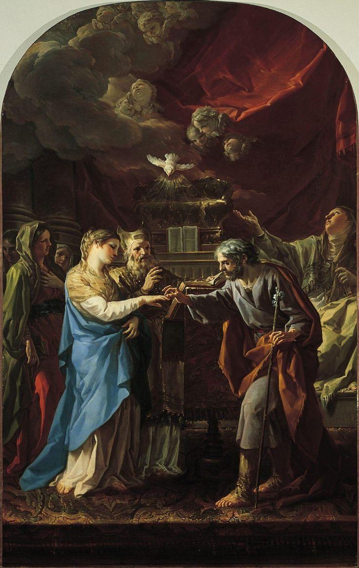 The Marriage of the Virgin Corrado Giaquinto, c. 1764-1765 ...