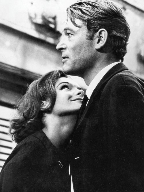 Romy Schneider and Peter O'Toole on the set of What's New Pussycat, 1965