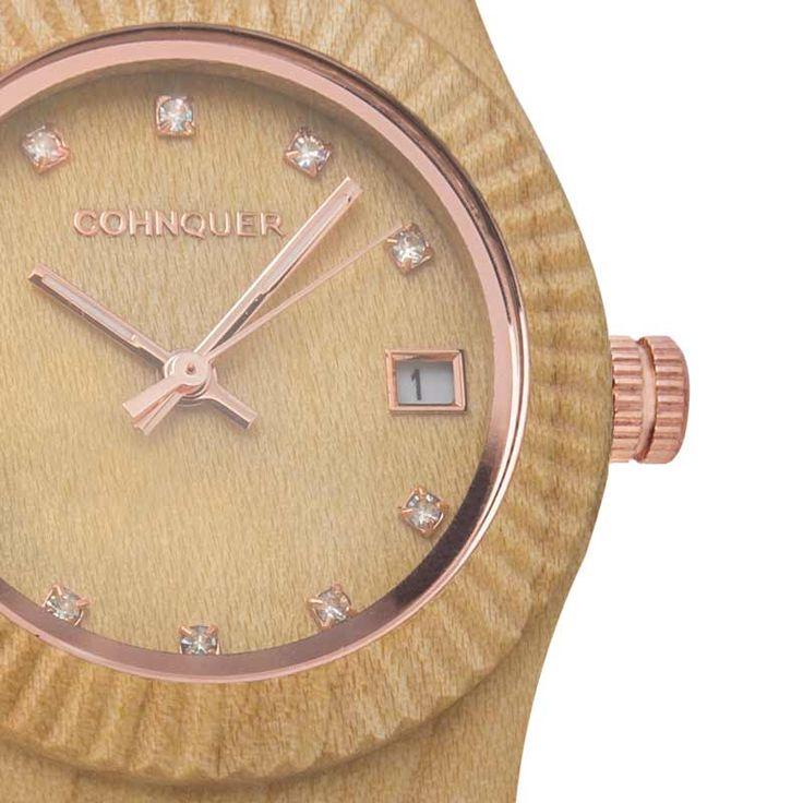 Reloj madera de pulsera original de mujer CohnquerSerenity Maple. Diseño casual en madera de arce. ¡Cómpralo ahora con gastos de envío GRATIS!