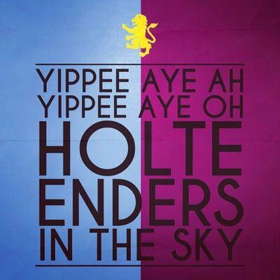 Villa fans in the sky