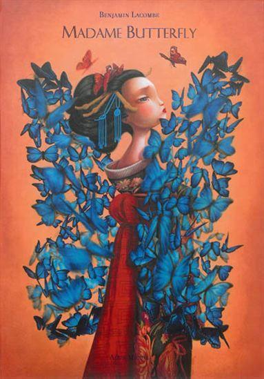 L'auteur réinterprète ce drame amoureux où un jeune officier américain, de passage au Japon, s'éprend d'une geisha de 15 ans. Outre la présence de peintures à l'huile, de tissus, de papiers précieux, d'une reliure à la japonaise, l'ouvrage se déploie révélant une fresque au crayon et à l'aquarelle de près de 10 mètres de long.