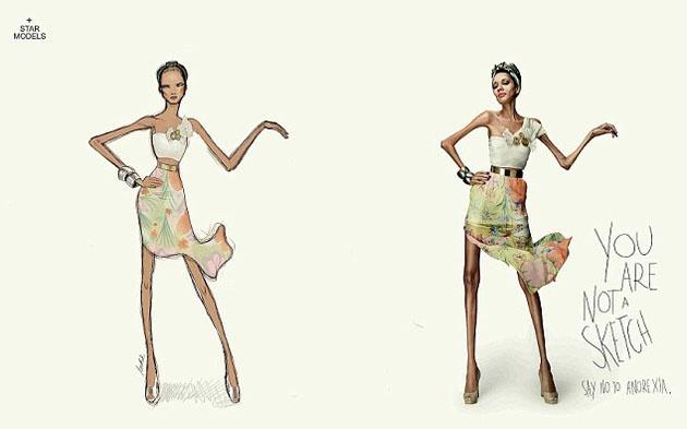 La agencia de modelos brasileña, Star Models, ha publicado una serie de contenidos gráficos, utilizando el Photoshop para convertir preciosas mujeres en ilustraciones de moda de tamaño natural.