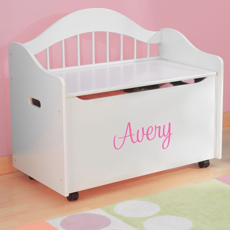 Premium Edition Personalized Toy Box - White | Dibsies Personalization Station