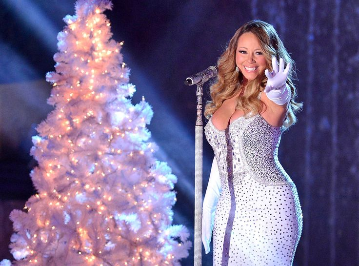 Mariah Carey at the 81st Annual Rockefeller Center Christmas Tree Lighting