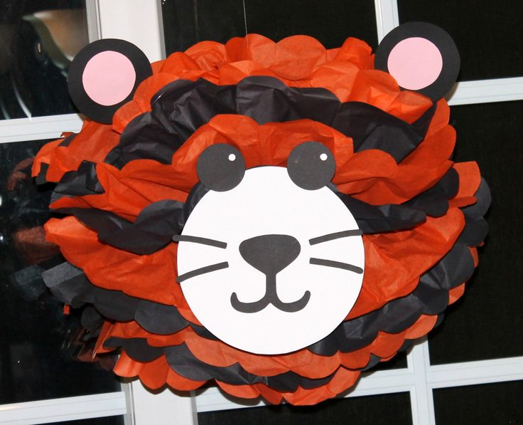 Tiger pom pom kit king of the jungle safari by TheShowerPlanner, $9.99