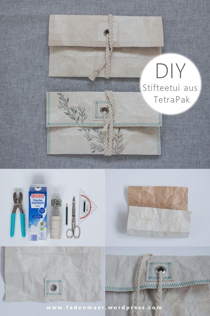 Stifteetui aus Tetra Pak – upcycling DIY