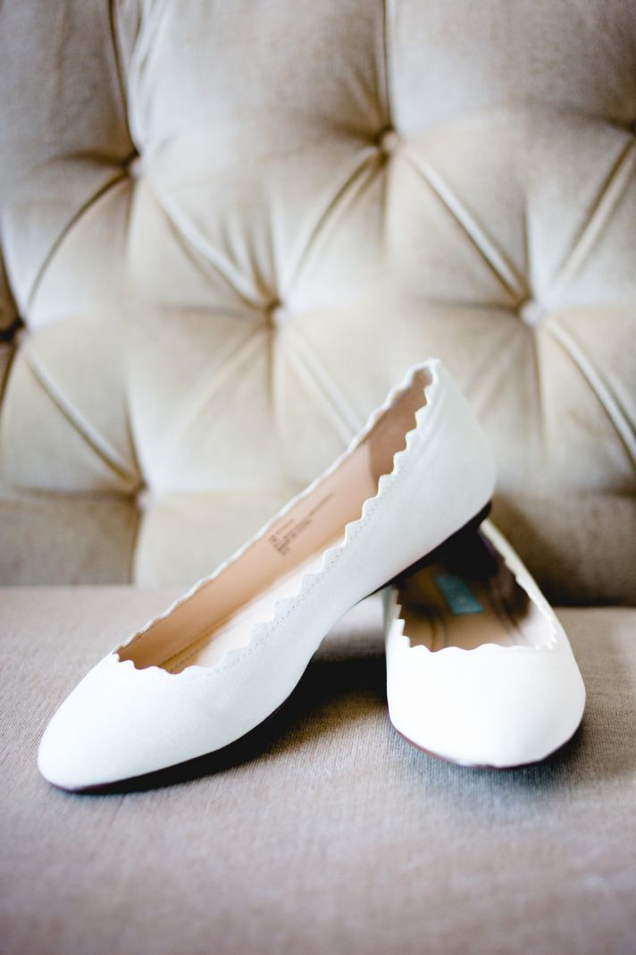 rustic elegant real wedding white ballet flats bridal shoes. I really want to opt to wearing flats - so much more practical :)