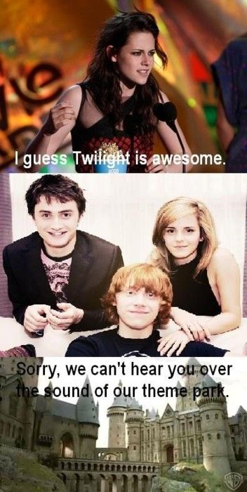 Possibly the best proof ever that Harry potter is better than twilight