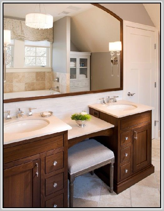 double sink vanity with center cabinet. Best 25  Double sink vanity ideas on Pinterest bathroom and sinks