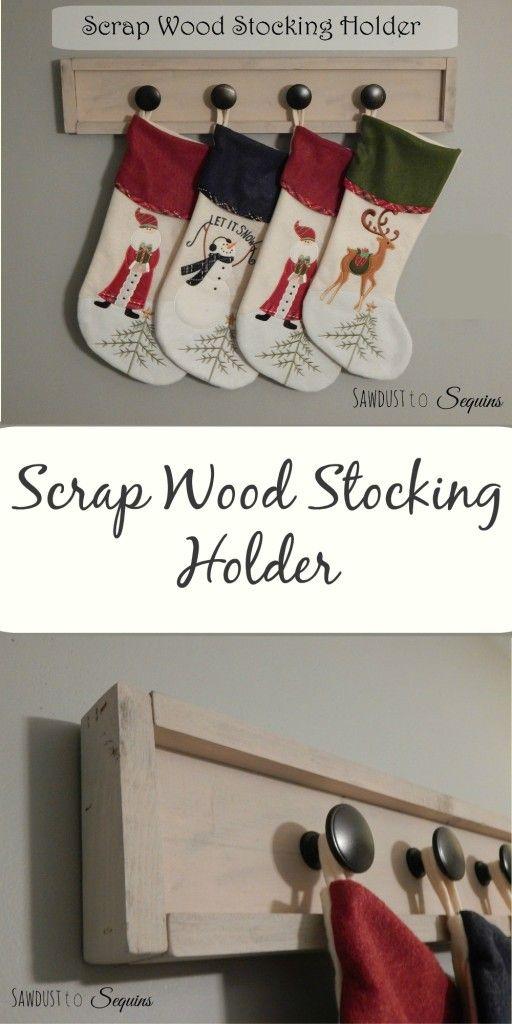 Scrap Wood Stocking Holder Pin