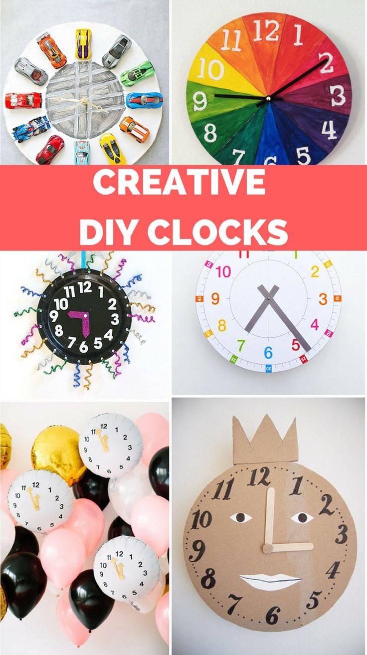9 Creative DIY Clocks to Teach Kids How to Tell Time. Fun craft to make for counting down to New Years too!