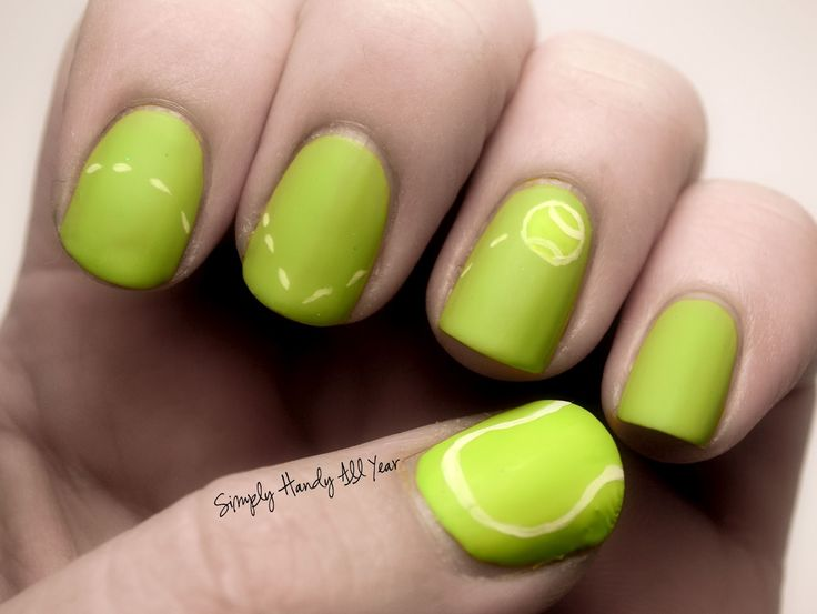 Best 25 sports nail art ideas on pinterest softball nails tennis nails google search prinsesfo Image collections