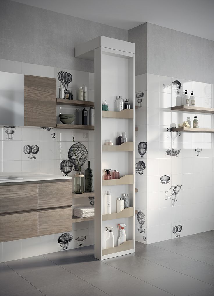 An exclusive element in Scavolini's Laundry Space setting is the Around revolving accessory storage wall, which is available in a single White Decorative Melamine finish. It can be accessorised at various heights with storage bowls and hooks in Pearl Beige metallic painted metal.