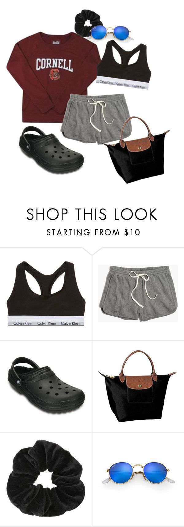 """""""cornell libe dayz"""" by emmagc on Polyvore featuring Calvin Klein Underwear, Madewell, Crocs, Longchamp, Miss Selfridge and Ray-Ban"""