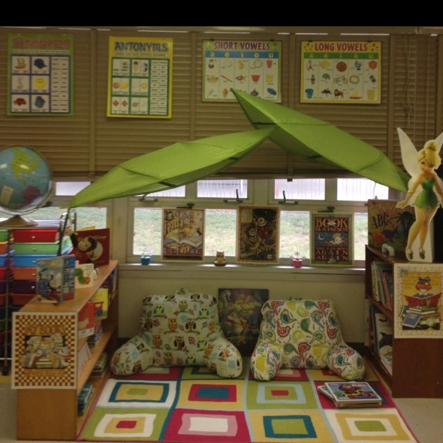 Classroom Reading Nook Ideas : Created this reading area in my classroom with lova canopy