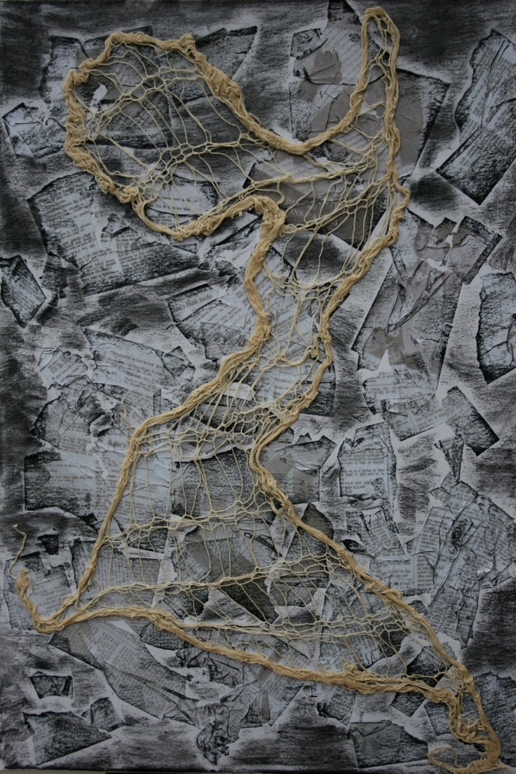 YOUNG, ANNE 'Knit Away' Knit, cotton and PVA glue Size: 70x50x1.5 $200