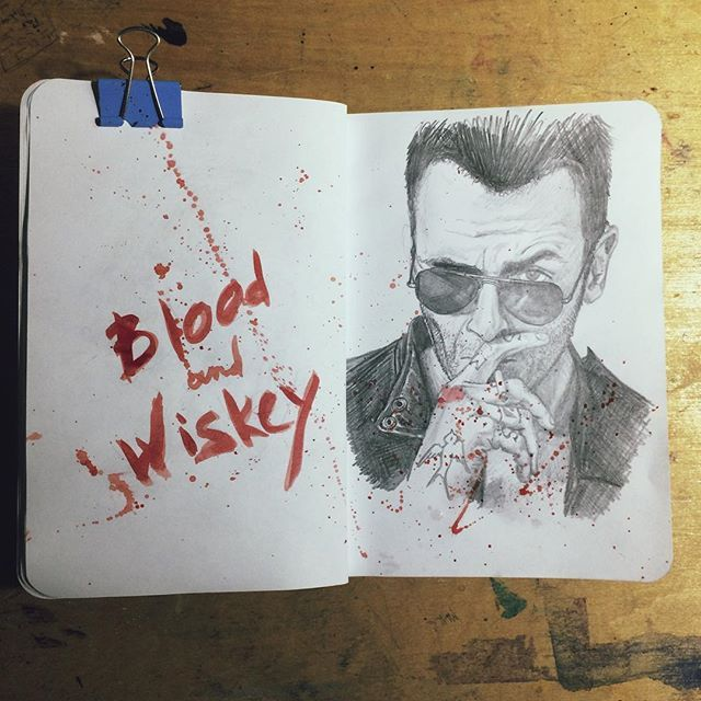 Blood and Wiskey #art #instaart #draw #drawing #paint #painting #sketch…