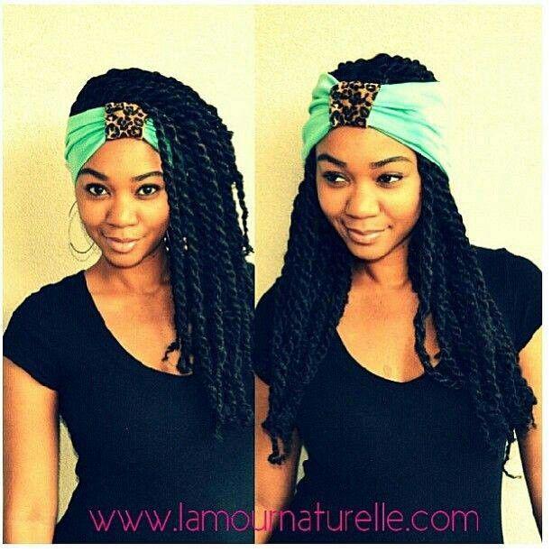 how to wear twist scarf headband