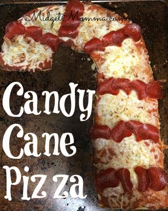 Have fun with dinner and make Candy Cane Pizza!!! This is also great for christmas parties and christmas theme fun