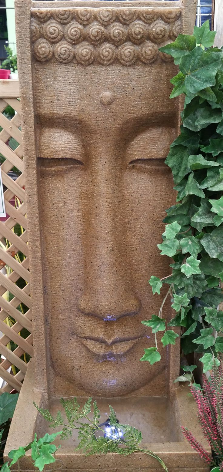 "We nicknames this water feature ""The Weeping Buddha""."