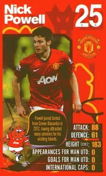 2012-13 Top Trumps Manchester United #NNO Nick Powell Front