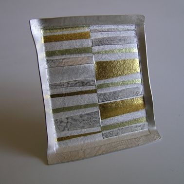 Formed Seamed-Stripe Brooch | Contemporary Brooches by contemporary jewellery designer Jessica Briggs