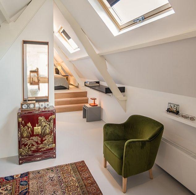 gietvloer zolder hotel suite Gorinchem hout interieur authentiek  inspiratie