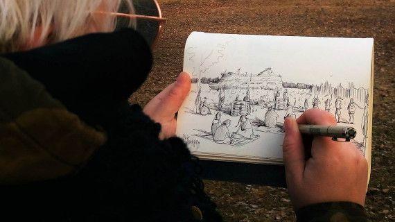 Johanna Sinkkonen @ ruis rock 2017 | Turkulainen kuvataiteilija Johanna Sinkkonen taltioi Ruisrock-viikonlopun tunnelmia, maisemia ja hetkiä paikan päällä piirtäen. Piirrosprosessi taltioidaan taiteilijan näkökulmasta, ja luonnosvideoita esitetään festivaalin screeneillä viikonlopun mittaan. Pidä silmät auki, niin saatat päästä osaksi teosta!