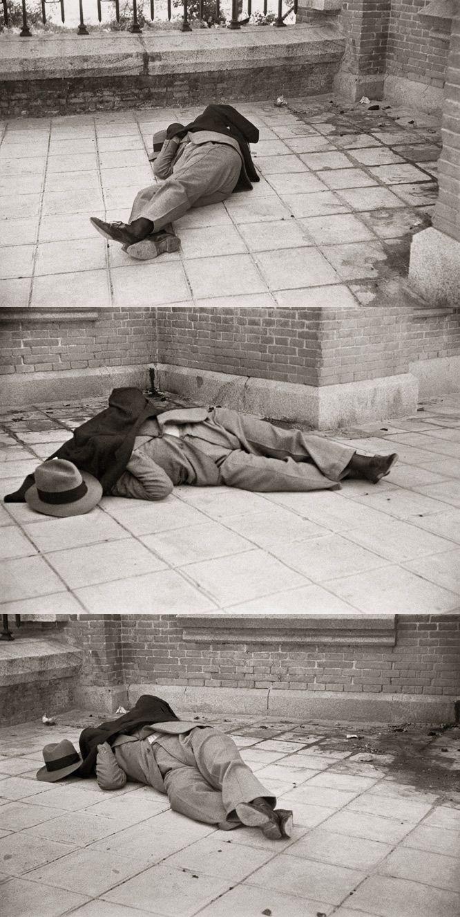El cadáver de Calvo Sotelo, asesinado el 13 de julio de 1936 (Archivo Regional de la Comunidad de Madrid/ Fondo Martín Santos Yubero).