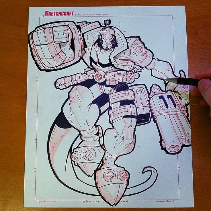 regram @sketchcraft Online Con Commish - #hellboy black inks and shade done! #devblog #sketch #art #ink #comics #instart