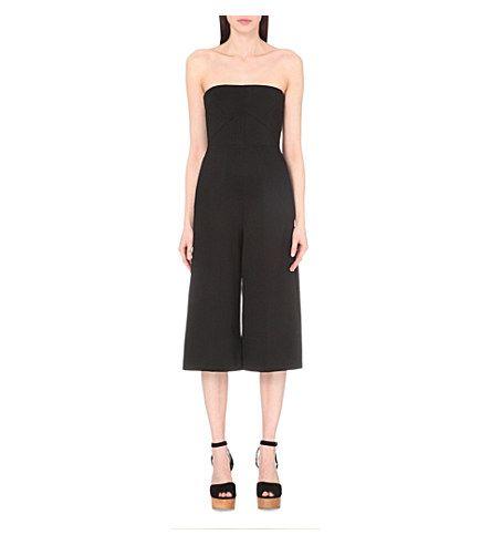 MAJE Pia strapless stretch-crepe jumpsuit