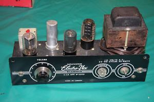 Electro-Vox Tube Amplifier, Mono channel will find pic mine a1 condition and color this one 225$