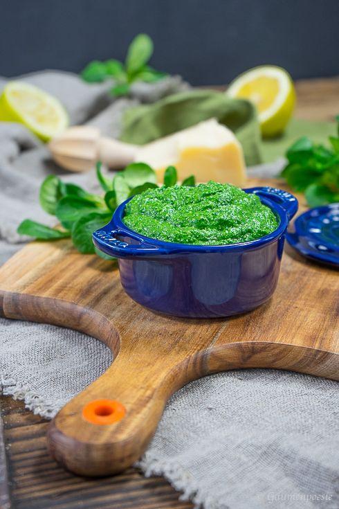 Kanarische Salzkartoffel mit Feldsalat-Pesto Rezepte mit Kartoffeln