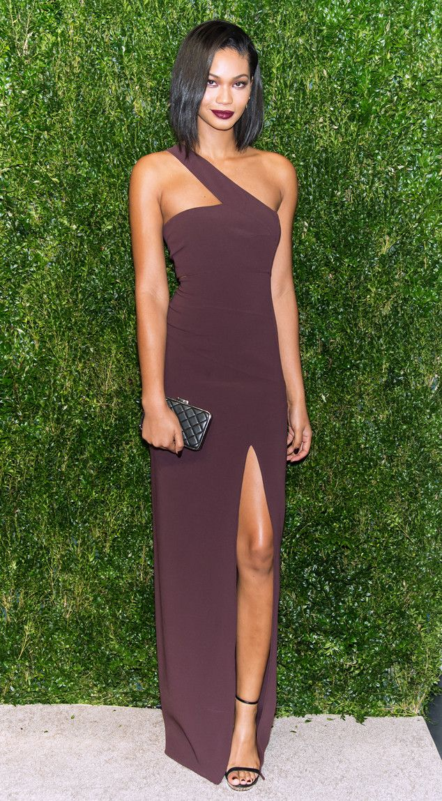 Wine Cool from Chanel Iman's Best Looks  In a bordeaux gown with aMichael Kors clutch
