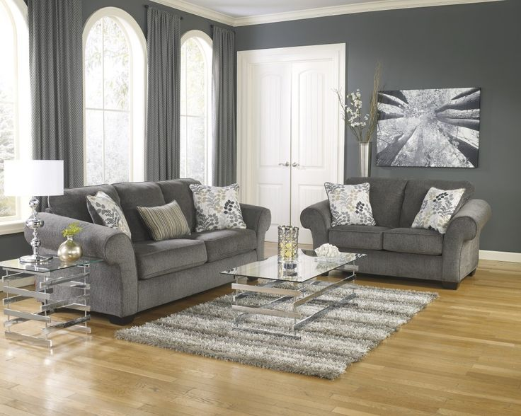Buy Makonnen Charcoal Sofa Loveseat Set Online For Living Room In Dallas Fort Worth Area At Best Prices With Furniture Nation