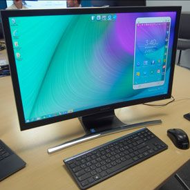 Samsung Tips Curved All-in-One, 'Blade-Thin' ATIV Book 9