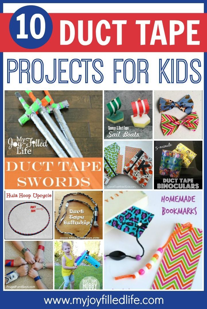 10 Duct Tape Projects For Kids My Joy Filled Life Duct Tape Crafts Crafts For Boys Kids Art Projects