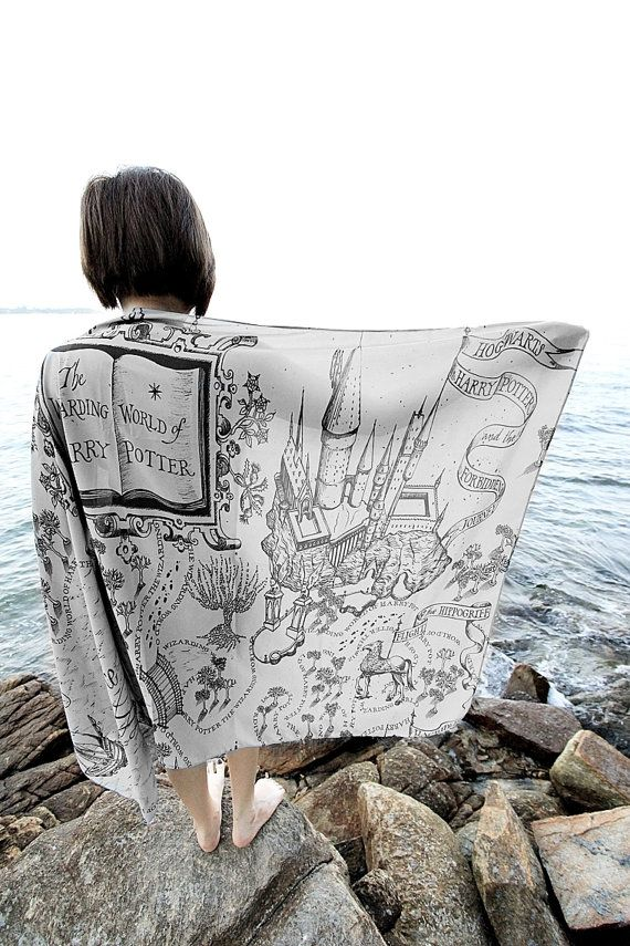Harry Potter  The Marauder's Map Hogwarts Scarf Harry by TheOhlala